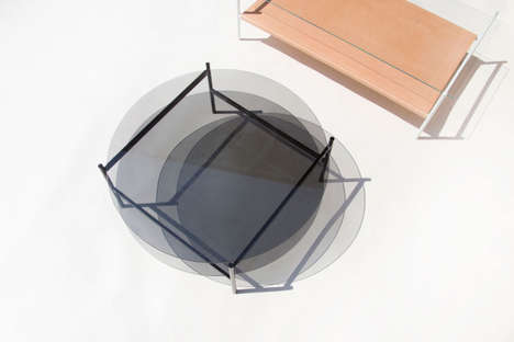 Two-Toned Furniture Series - YIELD's Glass Coffee Tables are Sleek and Easy to Assemble