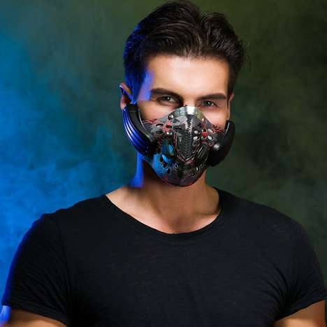 Mask Filter Headphones - The Digicare Anti-Pollution Mask is Packed with Bone Conduction Headphones