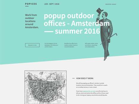 Pop-Up Office Startups - 'Popices' Creates Outdoor Offices for Startups and Freelancers to Use