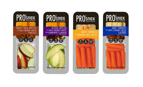 Single-Serve Protein Snacks - The Pro2snax Line Combines Fresh Produce with Healthy Protein