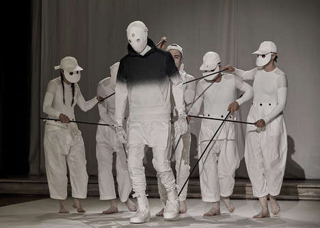 Fashion Model Puppets - Aitor Throup Debuted His Fashion Collection on Faceless Life-Size Puppets