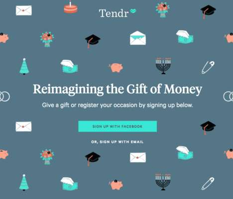 Monetary Gifting Services - 'Tendr' Turns the Experience of Giving Monetary Gifts into Art