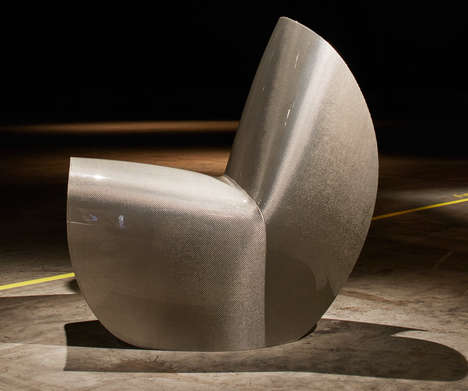 Carbon-Sculpted Chairs - Zaha Hadid Created a Futuristic Chair by Bending a Carbon Fiber Sheet