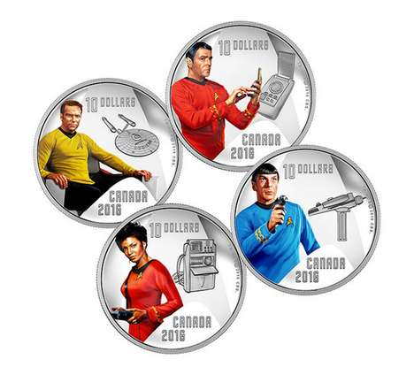 Commemorative Sci-Fi Coins - These Collectible Coins Honor Star Trek's 50th Anniversary