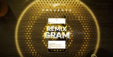Social Music Mixers - Miller Genuine Draft Created 'RemixGram' to Help Fans Make Music on Instagram