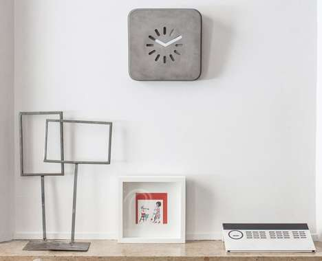 Loading Symbol Wall Clocks - The 'Life in Progress' Stylish Clock is Inspired by the Passage of Time