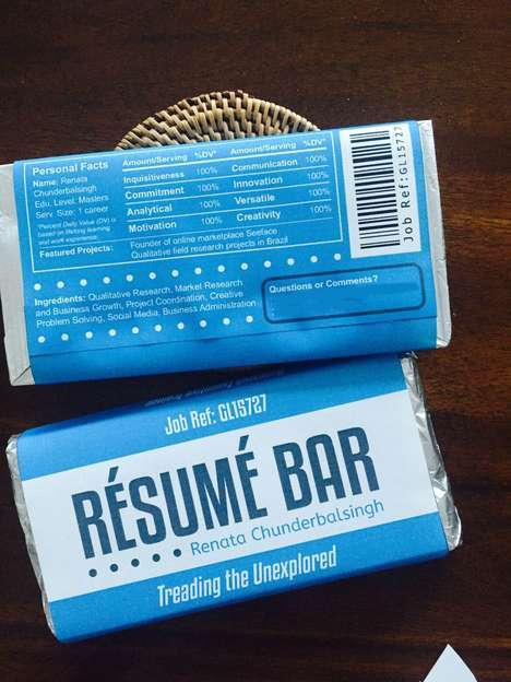Chocolate Bar Resumes - Reading Resume Qualifications Has Never Been More Enjoyable with This Idea