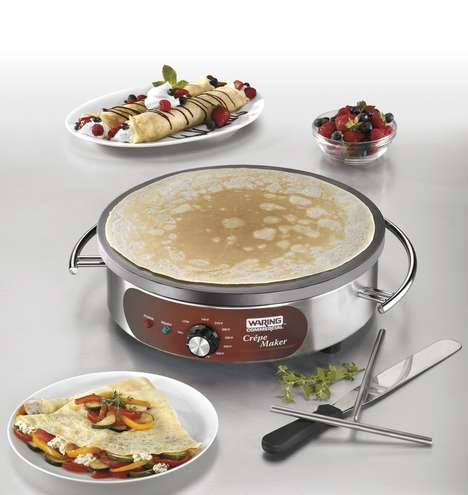 Commercial-Quality Crepe Makers - The Waring Electric Crepe Maker is Easily Used and Cleaned
