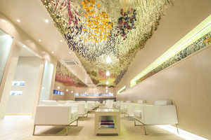 This Art Installation Covers the Ceilings of a Lounge