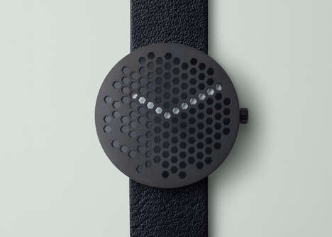 Hexagonal Watch Designs - This Honeycomb Watch Design Has Only Partially Revealed Hands