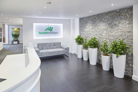 Forest-Inspired Offices - This Office Design is Inspired by Its Company's Service