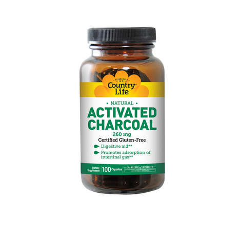 Digestive Charcoal Capsules - Activated Charcoal Supplements Improve Gut Health By Eliminating Gas