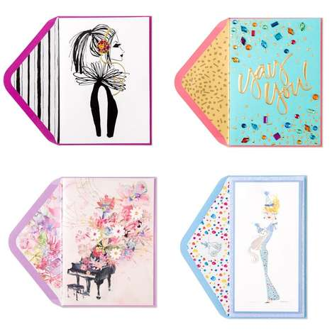 Songstress Stationary Collections - Taylor Swift x Papyrus Feminine Cards are Designed by the Singer