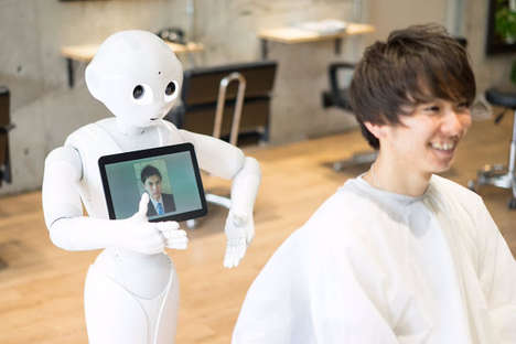 Haircut-Suggesting Robots - At 'PERCUT,' Pepper the Robot Suggests Hairstyles for Men