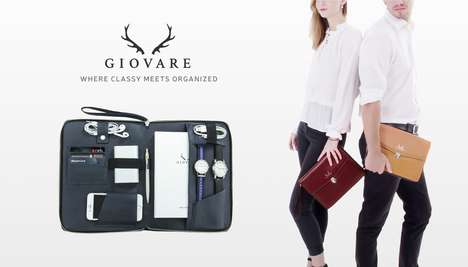 Orderly Clutch Bags - 'Giovare' is a Modern Clutch That Puts an Emphasis on Organization