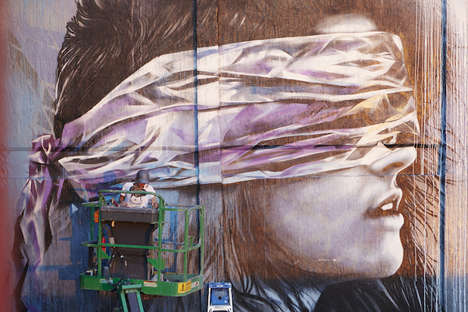 Prolific Street Portraits - Christina Angelina Depicts Neglected Places and Faces in Her Street Art
