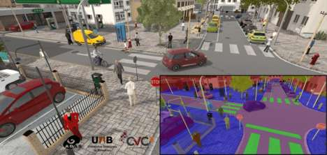 AI Virtual Driving Schools - 'Synthia' Creates a Simulation to Train Autonomous Vehicles