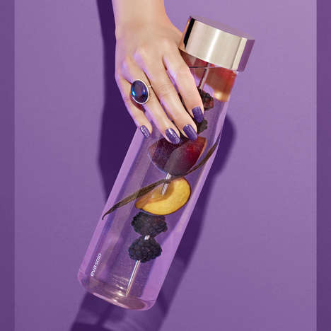 Stylish Fruit Infusion Bottles - The Eva Solo 'MyFlavour' Infusion Carafe Skewers Fresh Ingredients
