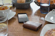 The Nomad Leather Wallet for iPhone Keeps Devices Charged All Day