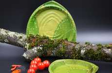 The Leaf Republic Disposable Dishes are Made Using Natural Materials