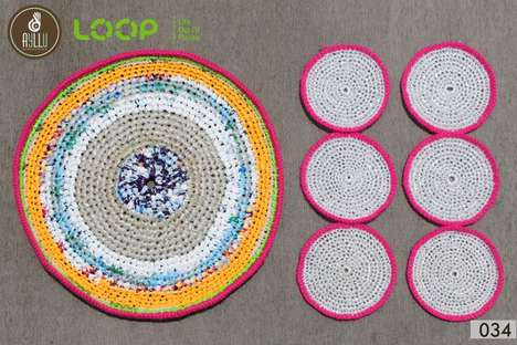 Upcycled Plastic Placemats - These Unique Placemat Designs Were Formed from Plastic Bags