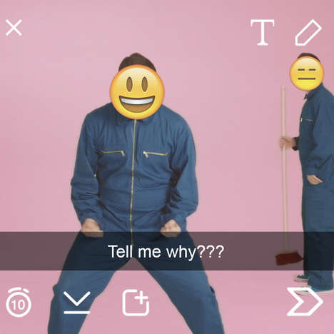 Snapchat-Inspired Music Videos - Peter, Bjorn & John's 'What You Talking About?' Plays with Emojis