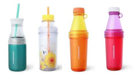 Bottle-Cup Containers - These Starbucks Cup Designs Also Function as Bottles