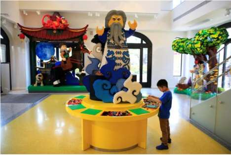 Building Block Charcter Displays - The Shanghai LEGO Store Features Displays Made Out of LEGO Bricks