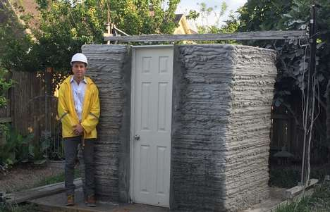 Printed Concrete Micro-Homes - This Concrete Tiny House Was 3D-Printed in Just 24 Hours