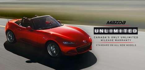 Unlimited Mileage Warranties - The Mazda Unlimited Program Doesn't Put Restrictions on Services