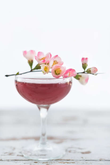 Cherry Blossom Cocktails - These Seasonal Cocktails Imagine the Taste of Japanese Cherry Trees