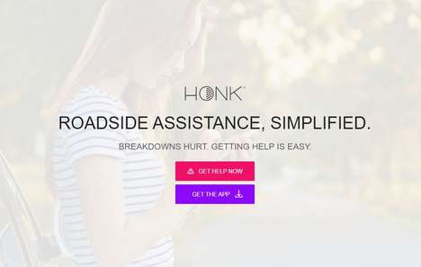 Simple Roadside Service Platforms - HONK Offers On-Demand and Reliable Towing and Roadside Services