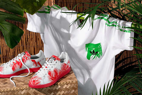 Tropical Clothing Collaborations - This adidas Line Was Made with Pharrell's Billionaire Boys Club