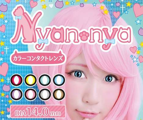 Feline Contact Lenses - Nyan Nya Contacts Temporarily Transform Wearers' Eyes into Those of a Cat