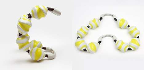 Pliable Massage Rollers - The Ai Sugiyama Reflech Tennis Ball Exerciser Can be Customized in Shape