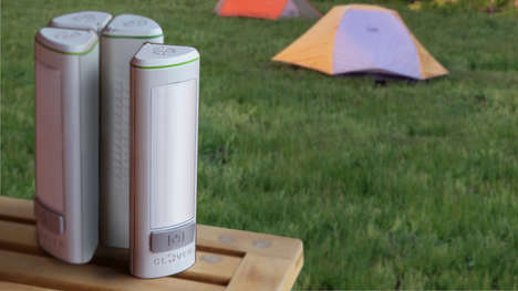Modular Lamp Devices - The Clover Lamp is the Perfect Multi-Functional Device for Camping
