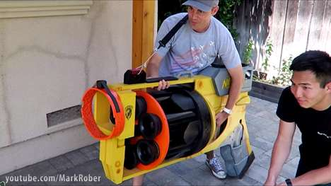 Record-Breaking Toy Guns - The World's Largest Nerf Gun is Stuffed with Toilet Plungers
