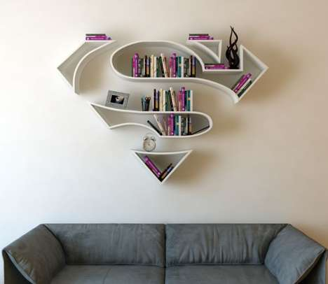 Superhero Bookshelves - Burak Dogan Creates Furniture in the Shape of Famous Comic Book Branding