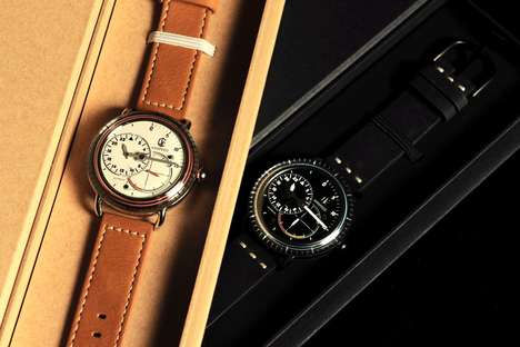 Modern-Vintage Hybrid Watches - This Timeless Watch by CJR is Intricate and Luxurious
