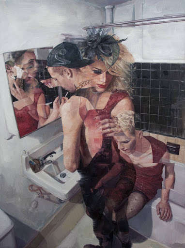Identity-Transcending Paintings - Adam Lupton Distorts Figures to Comment on the Passing of Reality