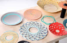 Spirograph Home Accessories - This Process Uses a Children's Toy to Create Useful Home Accessories