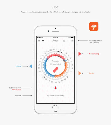 Menstruation Calendar Apps - This App Allows Women to Track their Menstruation Cycles