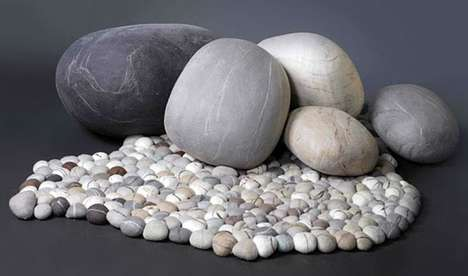 Rock-Shaped Pillows - These Pillows Take After the Appearance of Natural Stones