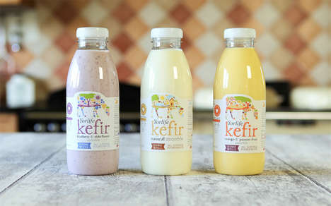 Flavoured Kefir Drinks - The New Yorvale Drinks Combine Live Yeast Cultures with Sweet Ingredients