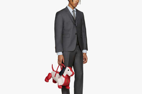 Luxe Dachshund-Shaped Bags - Thom Browne's Men's Dog Bags Cost Almost $3,000 a Piece