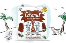 Dipped Coconut Popsicles - Coconut Collaborative Brands Its Coconut Desserts as 'Snowconut Sticks'