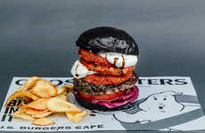 Ghost-Themed Burger Menus