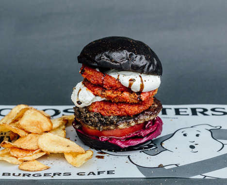 Ghost-Themed Burger Menus