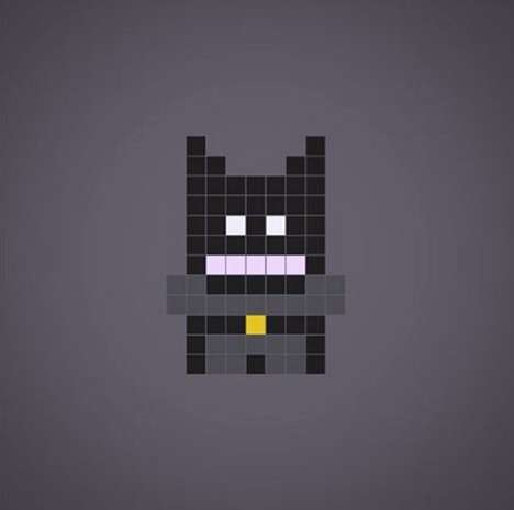 Pixelated Superhero Portraits - This French Artist Creates Adorable Pixel Superheroes