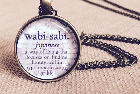 Educational Necklace Designs - These Necklaces Feature Translations of Words in Different Languages